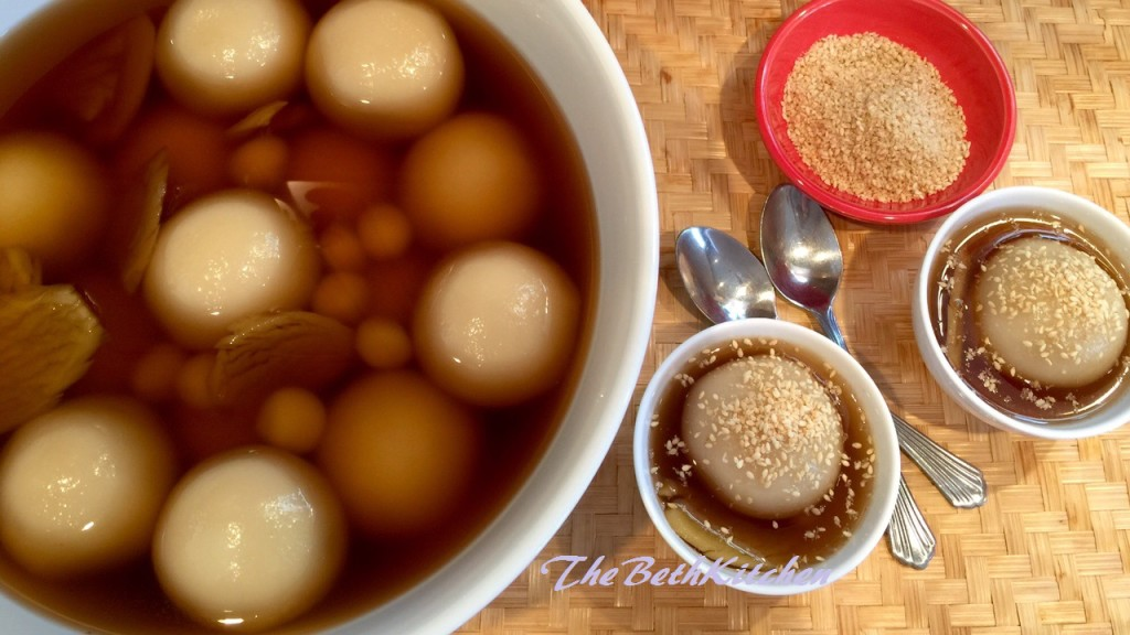 How to make Che Troi Nuoc - Glutinous Rice Balls with Mung Beans Filling in Ginger Syrup